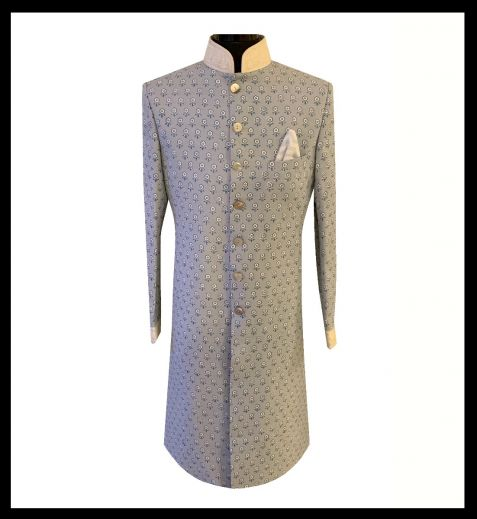 Abrar Ali Sherwani With Plain Kurta Churidar