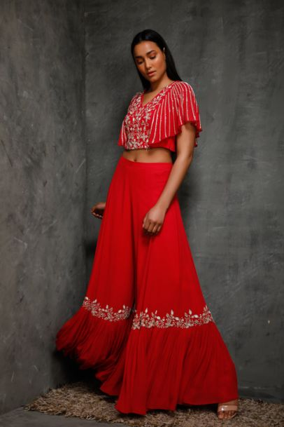 Seema Thukral croptop Sharara Pants