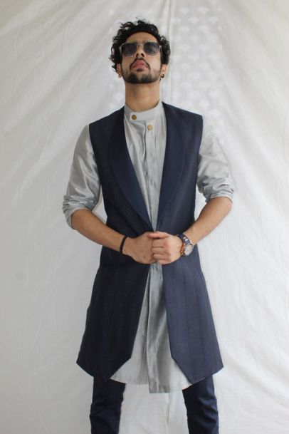 RNG Safawala Classic Blue Shrug Set