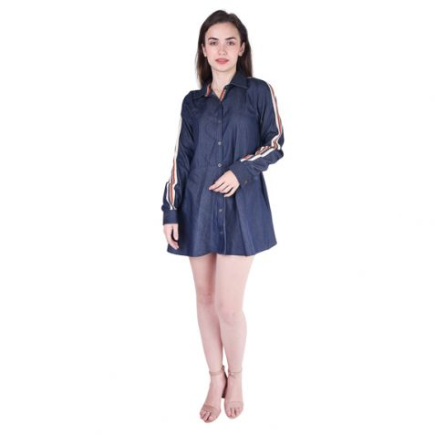 Shruti Sancheti Denim Blue Short Dress