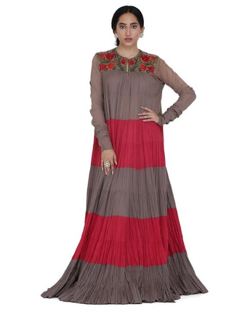Rohit Bal Long Dress with Stole