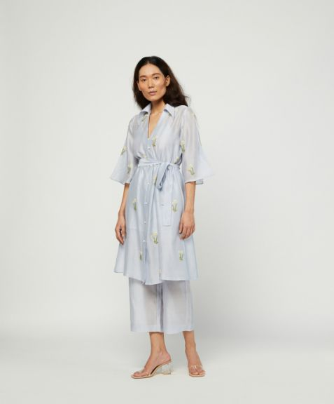 Meadow Label Sage Embroidered Tunic Set