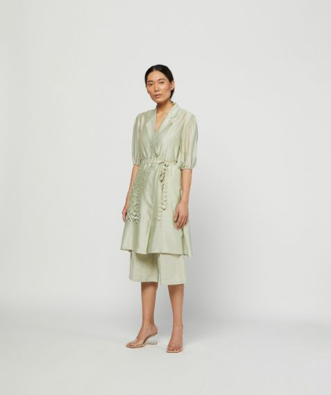 Meadow  Label Moss Embroidered Tunic Set