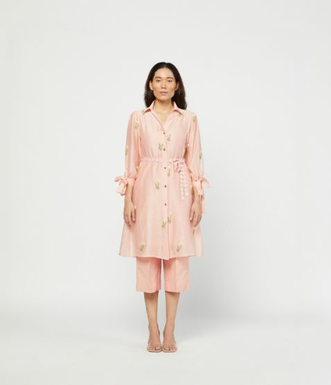 Meadow Label Rosa Embroidered Tunic Set